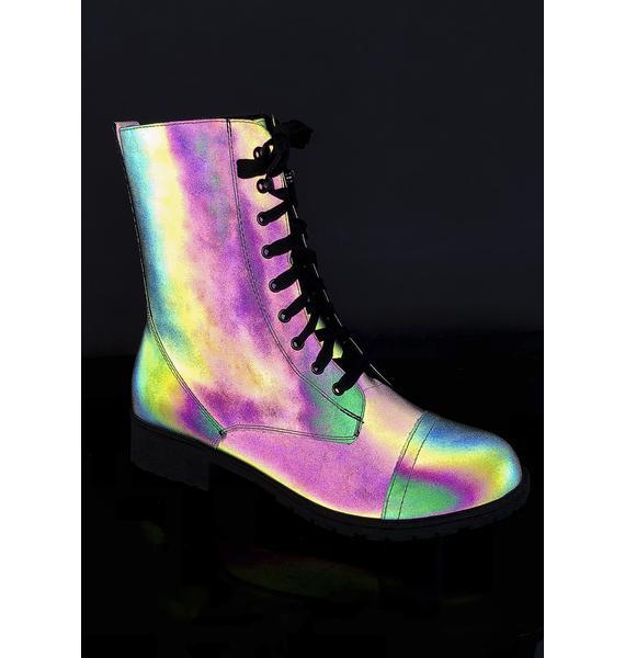 Rainbow Warrior Reflective Boots