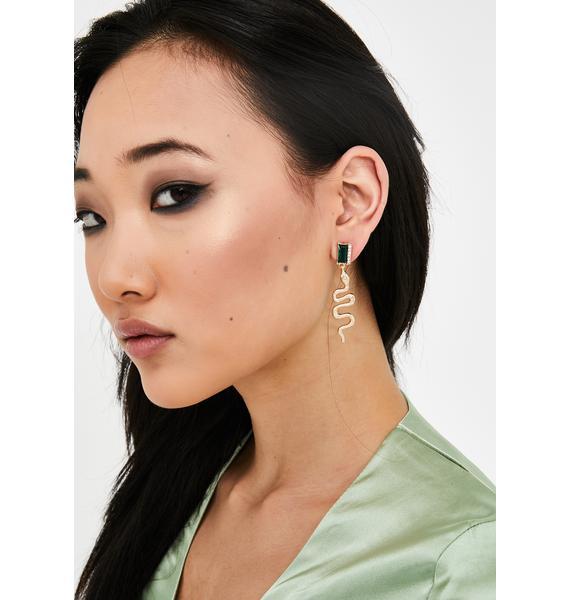 Poison Envy Snake Earrings