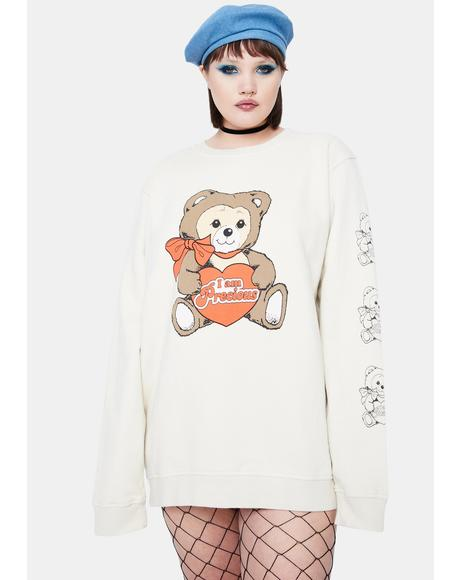 Curve Precious Teddy Graphic Crewneck