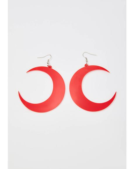 Blood Moon Drop Earrings