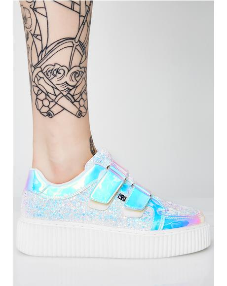 Iridescent Double Velcro Casbah Creepers