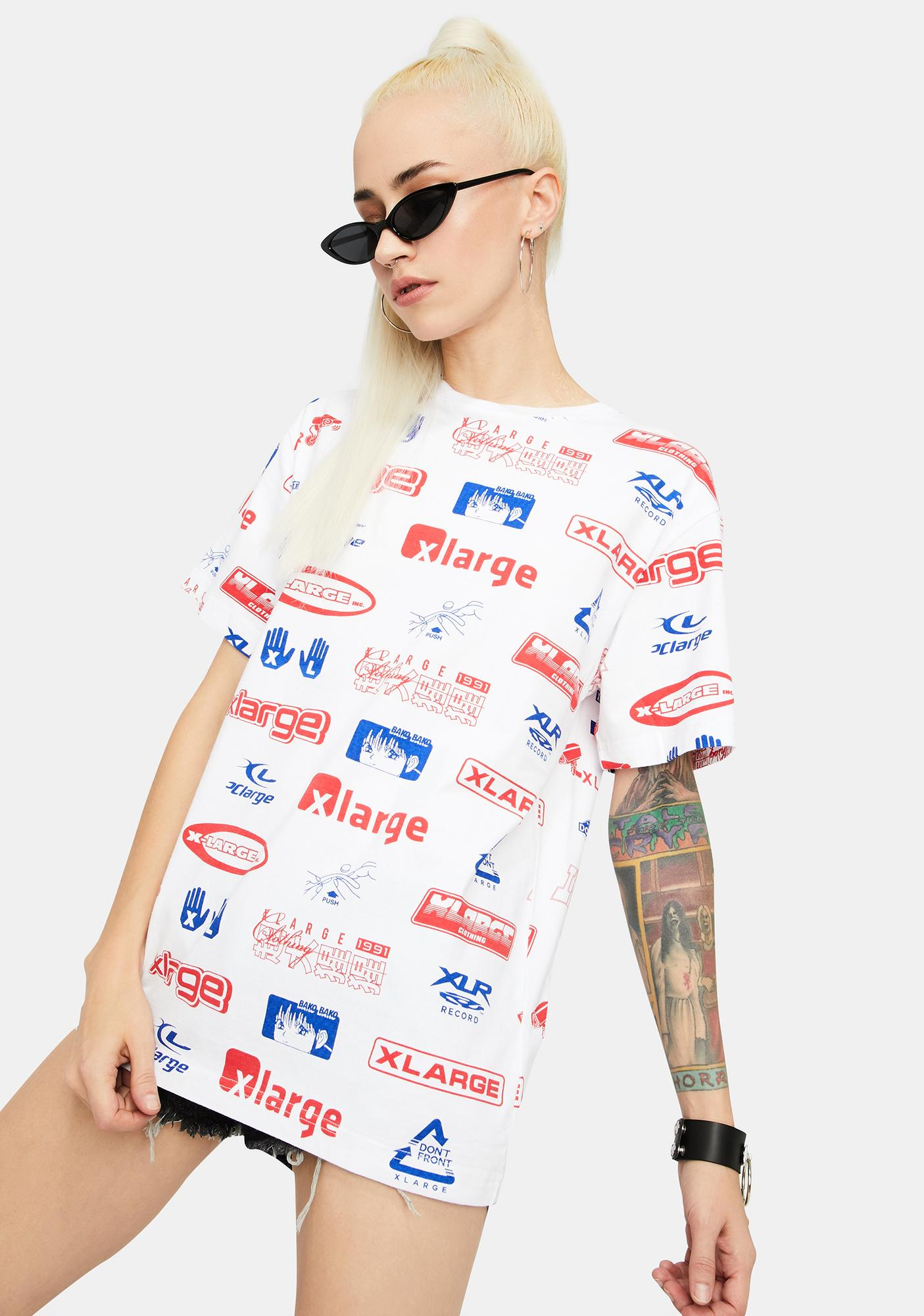 XLARGE All Over Print Graphic Tee