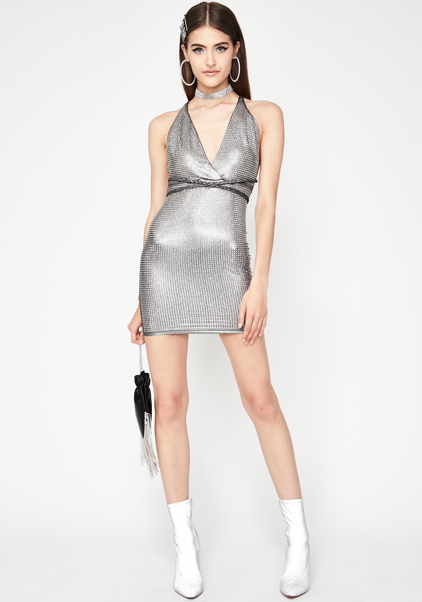 Dark High Class Hunty Metallic Dress