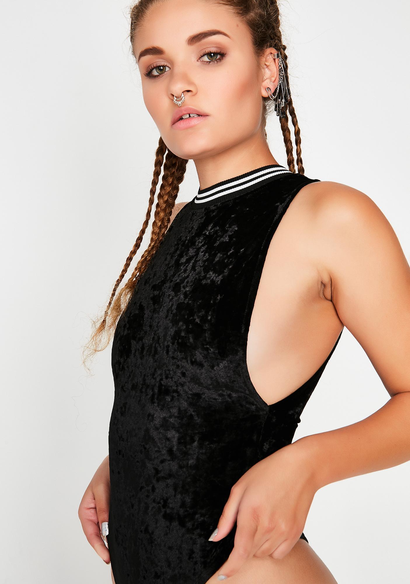 Onyx Out Cold Velvet Bodysuit