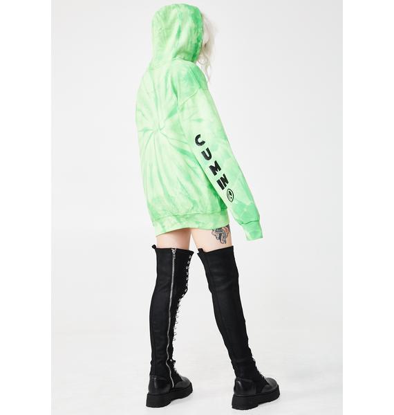 Psycho Rebel We Cum Tie Dye Hoodie