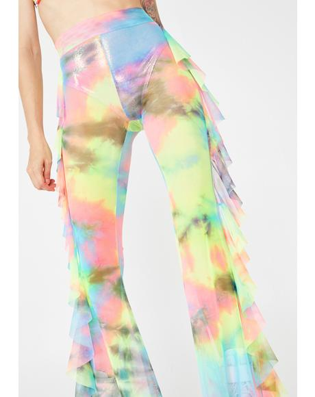 Illusion Tie Dye Mesh Pants