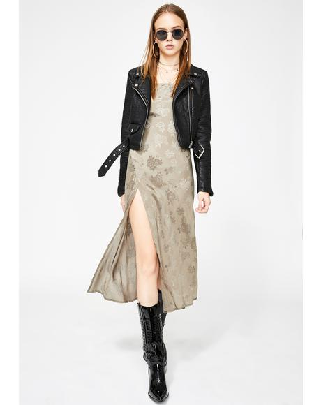 Silver Quinty Midi Dress