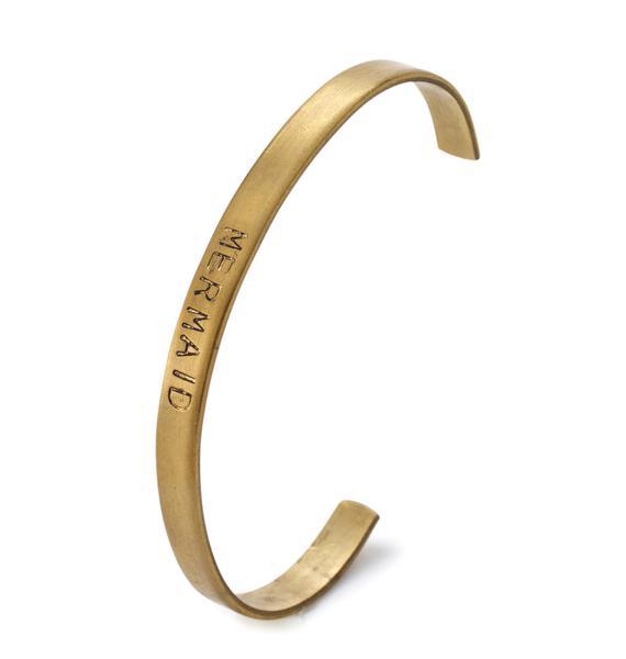 Mer-Babe Stamped Cuff Bracelet