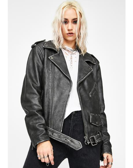 Riot Riders Leather Moto Jacket