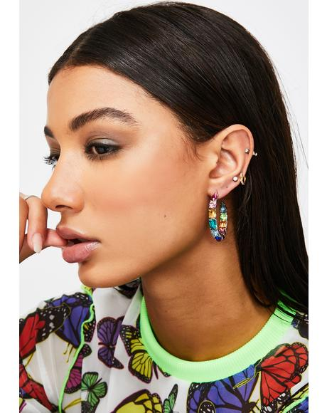 Luxury Livin' Jewel Hoops