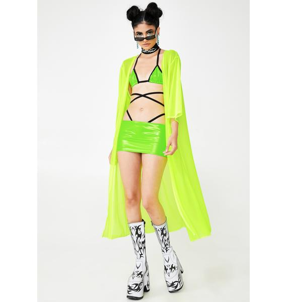 Rolita Rave Couture Vivid Inferno Mesh Cover Up