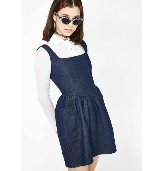 No Dress Denim Corset Dress