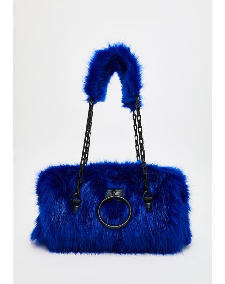 Royal Hearted Fuzzy Handbag
