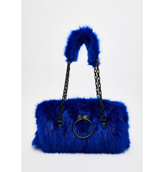 HOROSCOPEZ Royal Hearted Fuzzy Handbag