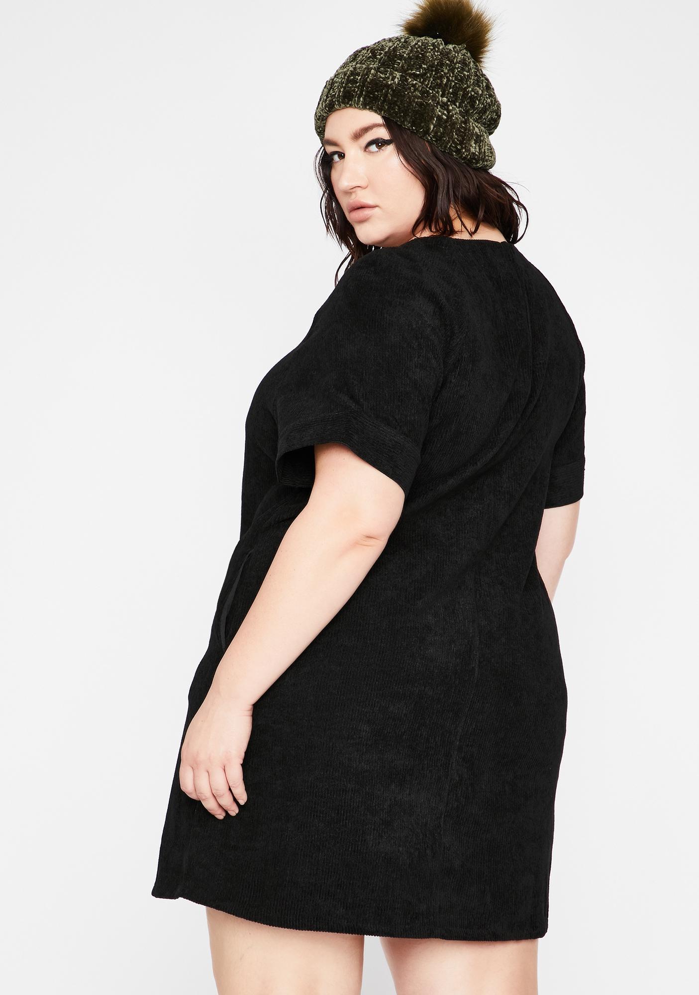 Goin' Back To Black Mini Dress