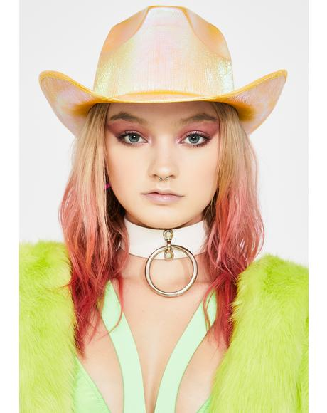 Metallic Yellow Cowboy Hat