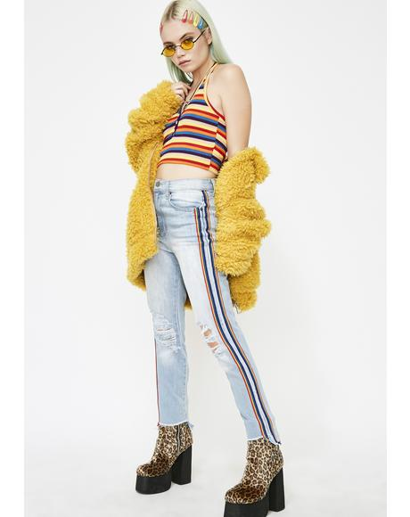 Rainbow Ara High Waist Mom Jeans