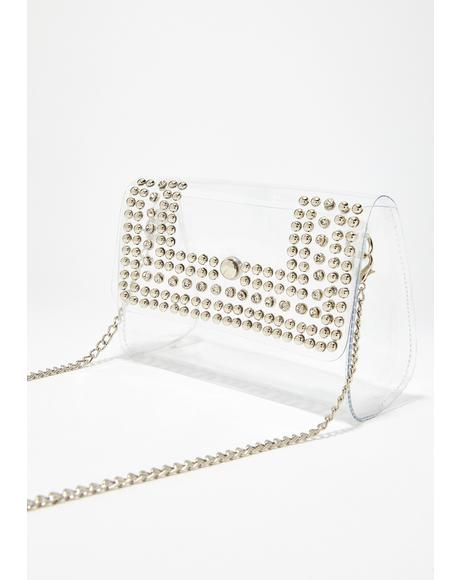 Loud N' Clear Studded Bag