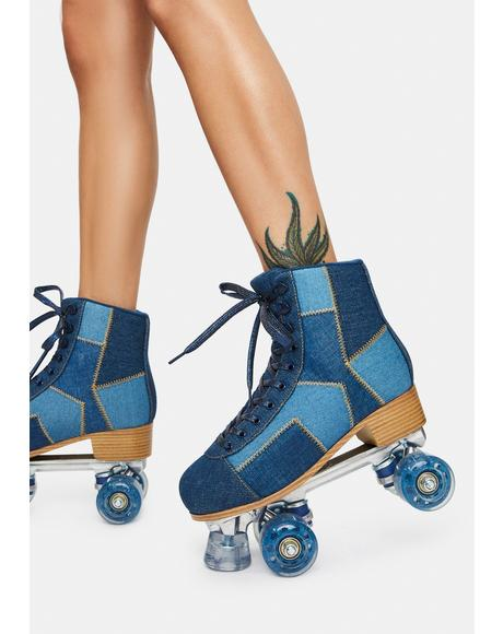 Derby Daze Denim Roller Skates