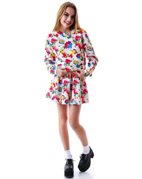Floral Wonder Waffle Sweater