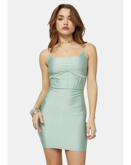 Divine Time Corset Mini Dress