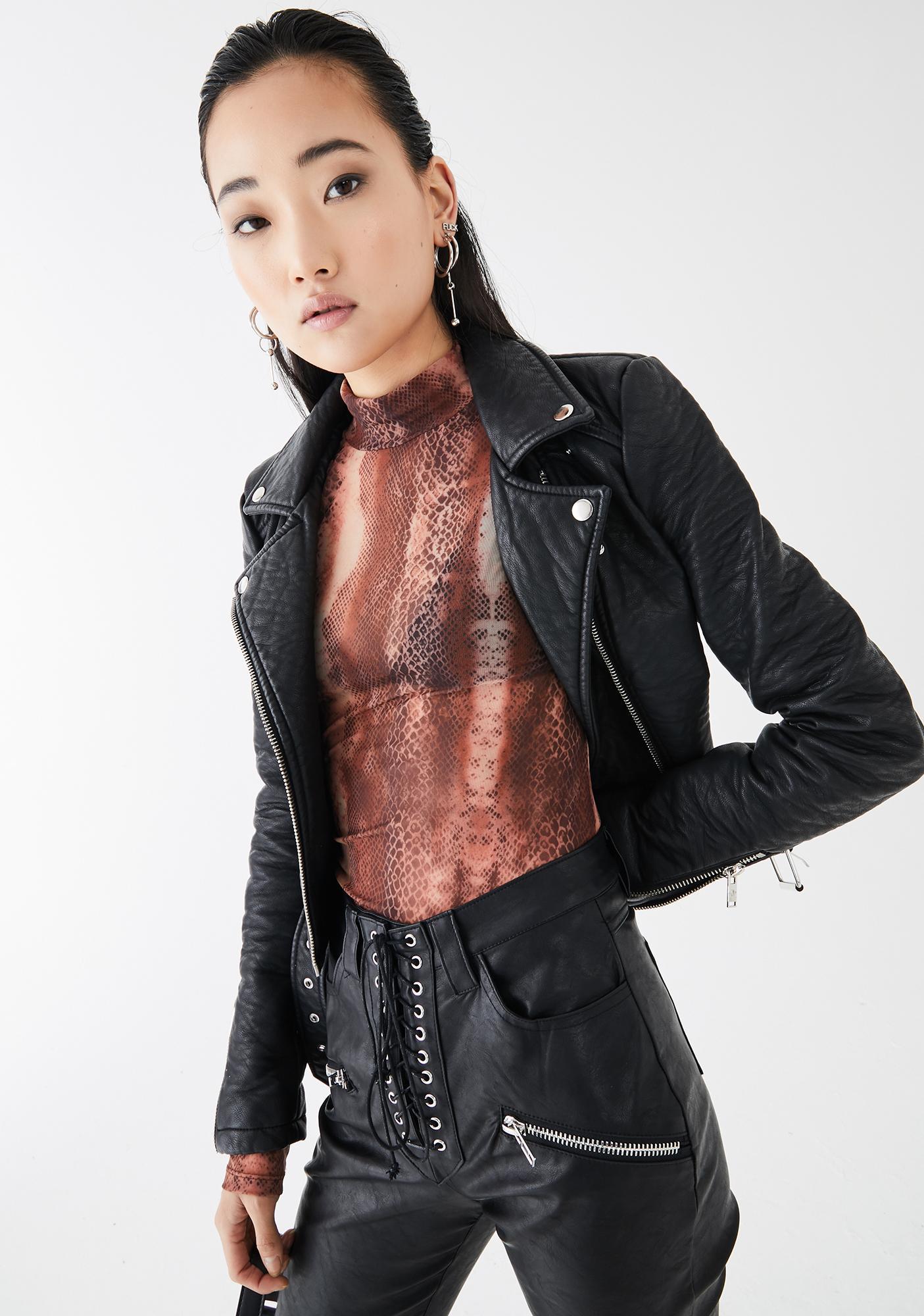 Kiki Riki Snake Dangerous Debutante Mesh Top