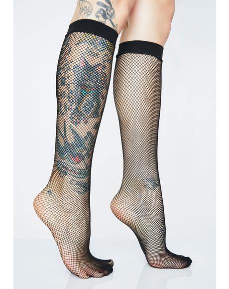 Sinister Schoolgirl Fishnet Socks