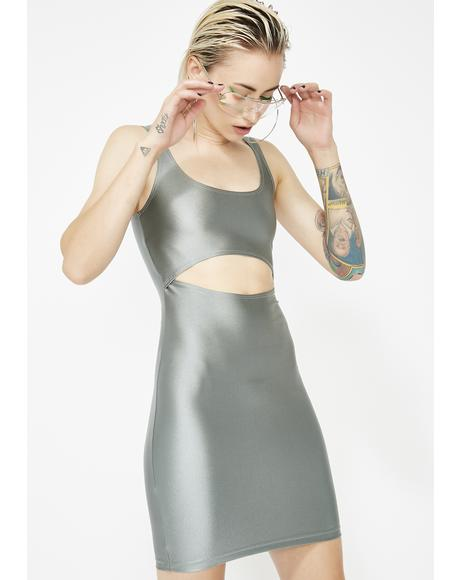 Chrome Steal Yo Man Bodycon Dress