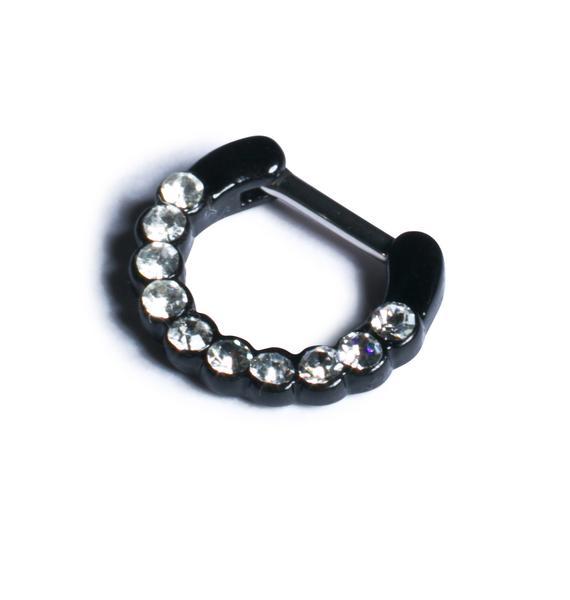 Diamonds Dancing Septum Ring