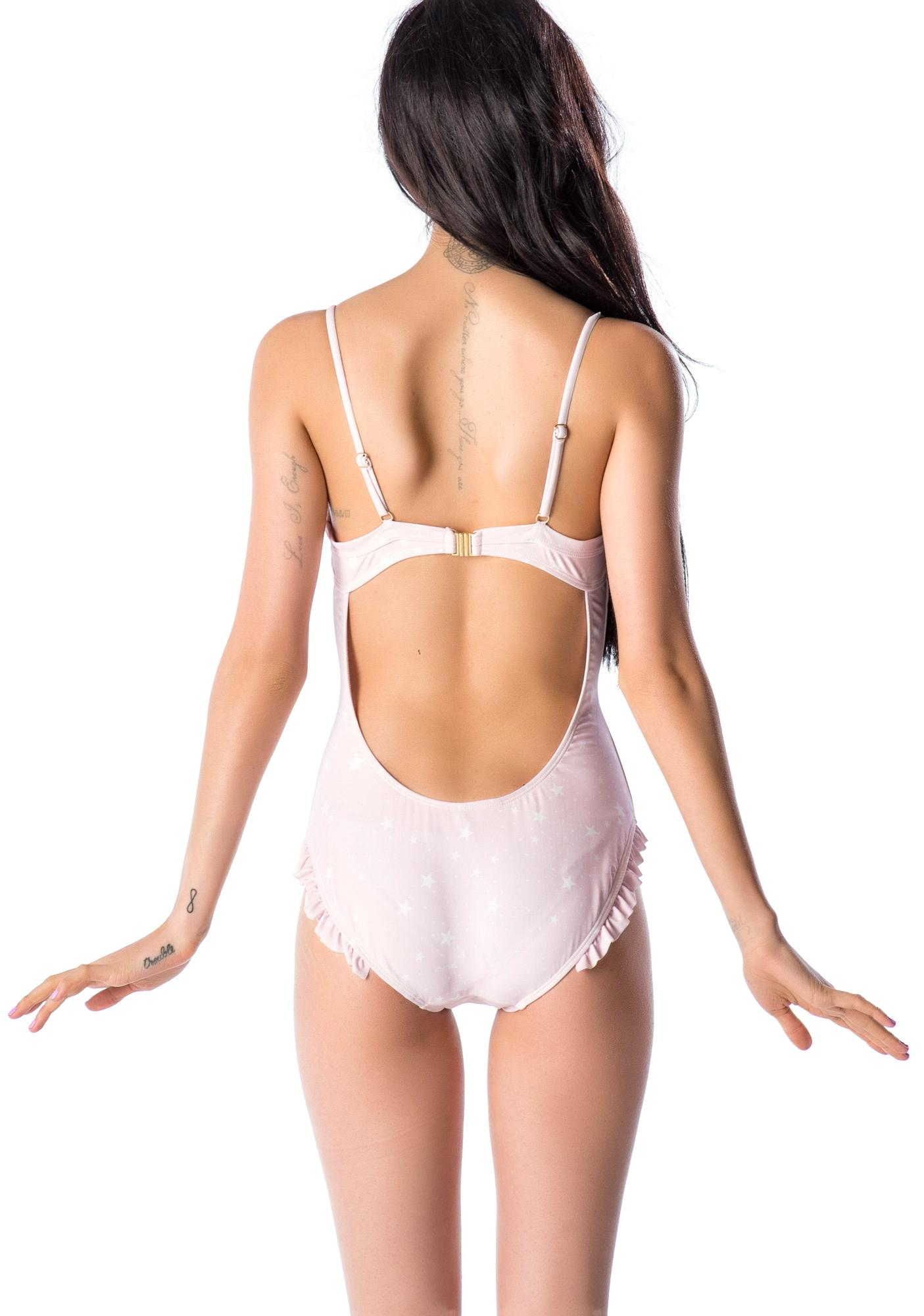 Wildfox Couture Starry Days Ruffle One Piece