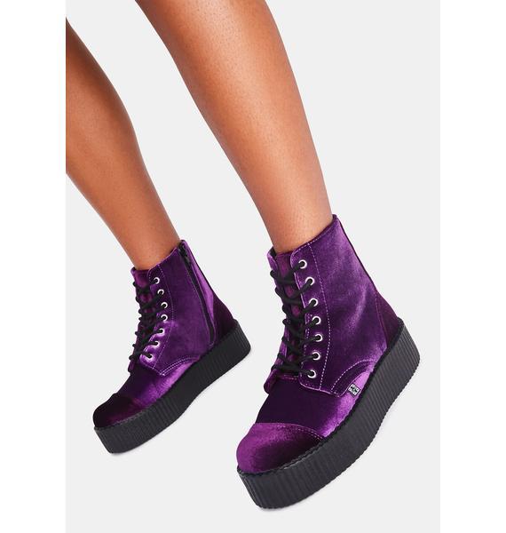 T.U.K. Violet Velvet Viva Mondo Boot