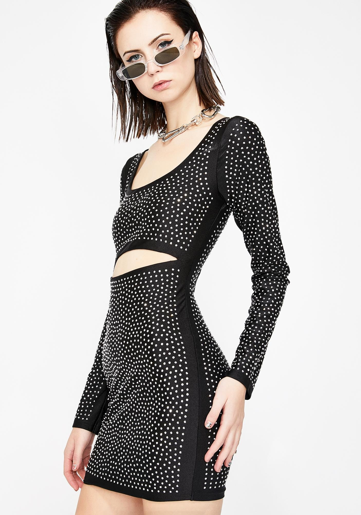 Sparkle Luster Cut Out Dress