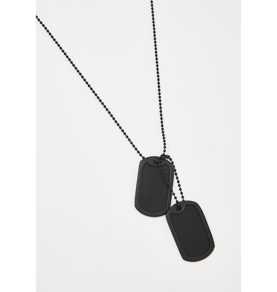 Grim You Betta Do Tag Necklace