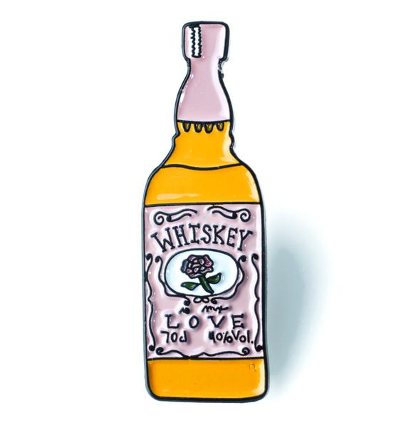 Creepy Gals Whiskey Bottle Pin
