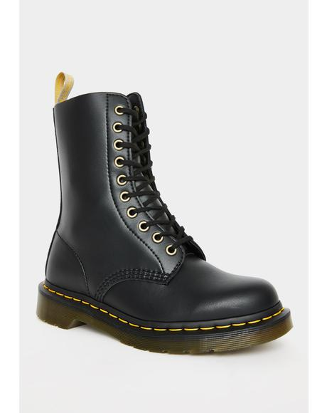 Vegan 1490 10 Eye Boots