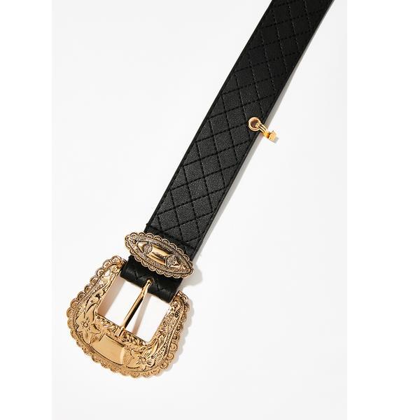 Midnight Classy Chic Belt Pouch
