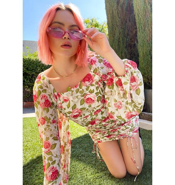 Roses In Bloom Floral Sundress