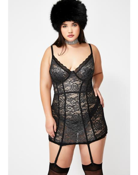 I'm Feelin' Frosty Lace Chemise