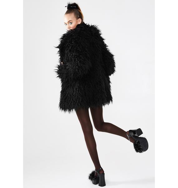 dELiA*s by Dolls Kill Fame Monster Faux Fur Coat