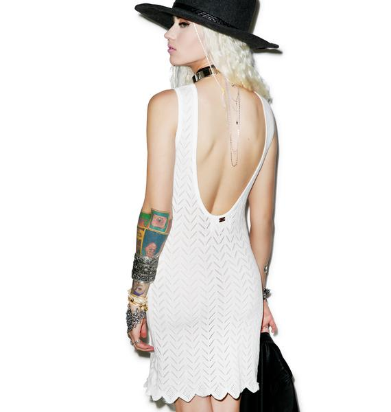 For Love & Lemons Knitz Lemon Drop Mini Dress