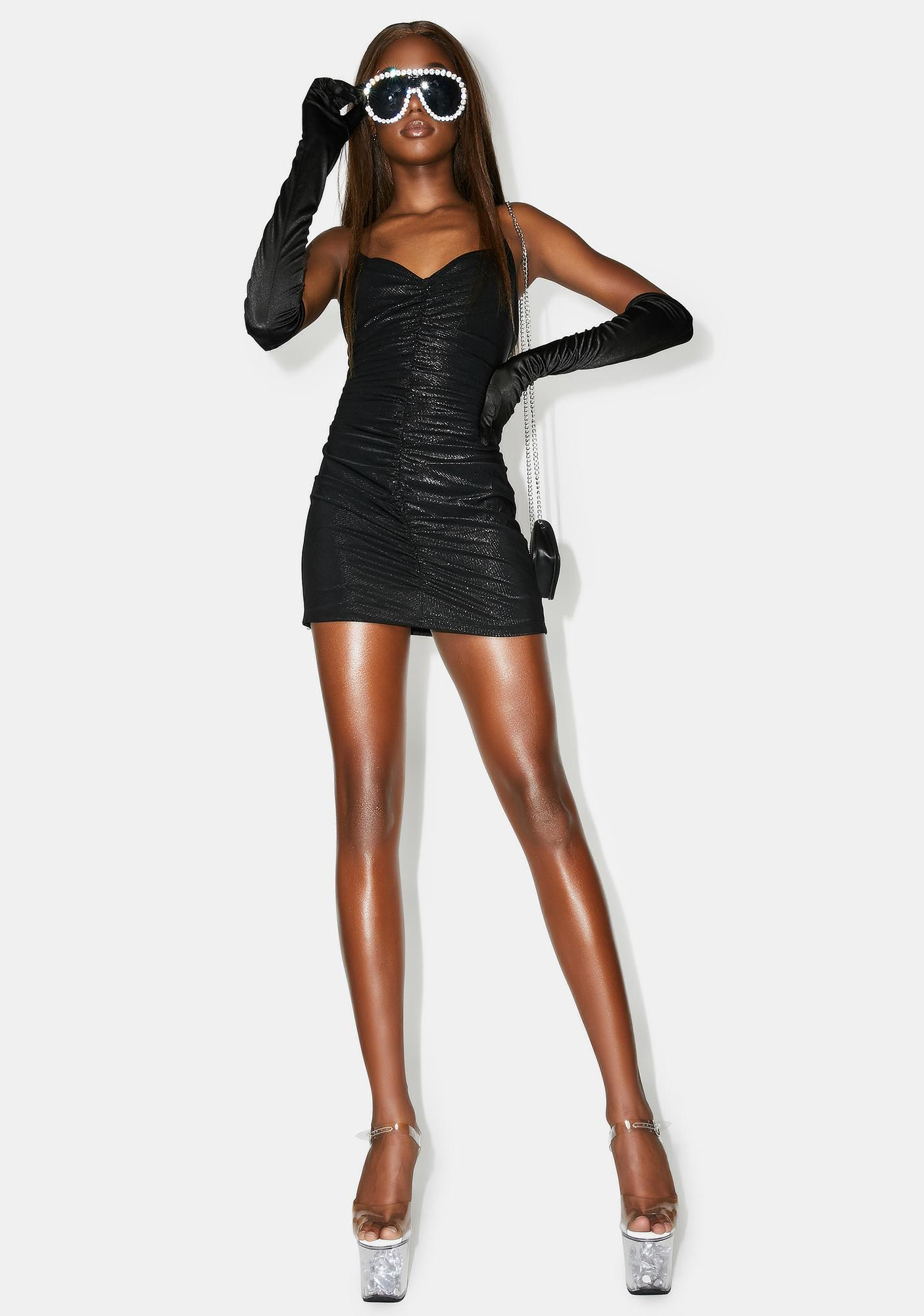 Poster Grl Spend It All Ruched Dress