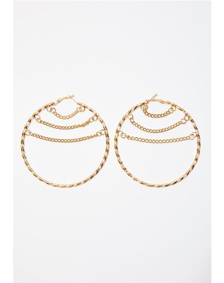 Chained 2 U Earrings