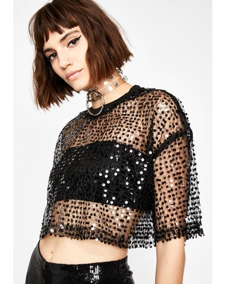 Techno Mood Sequin Top