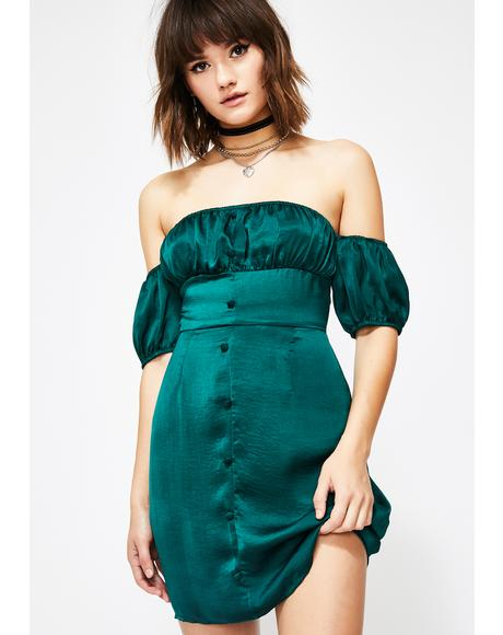 Divine Delight Off The Shoulder Dress