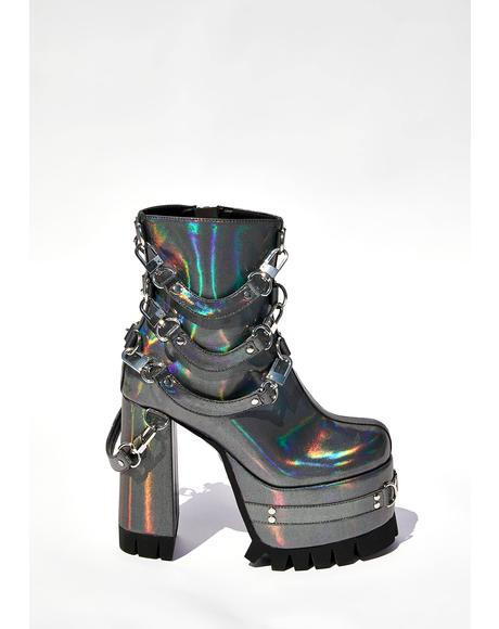 Ex Machina Holographic Boots