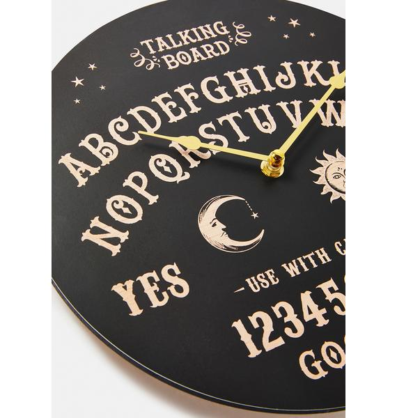 Classic Talking Board Clock