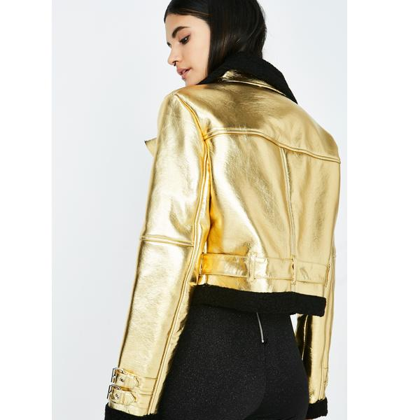 Struck Gold Moto Jacket