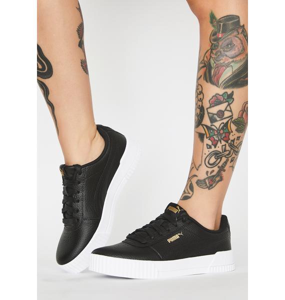 PUMA Carina Lux Leather Sneakers
