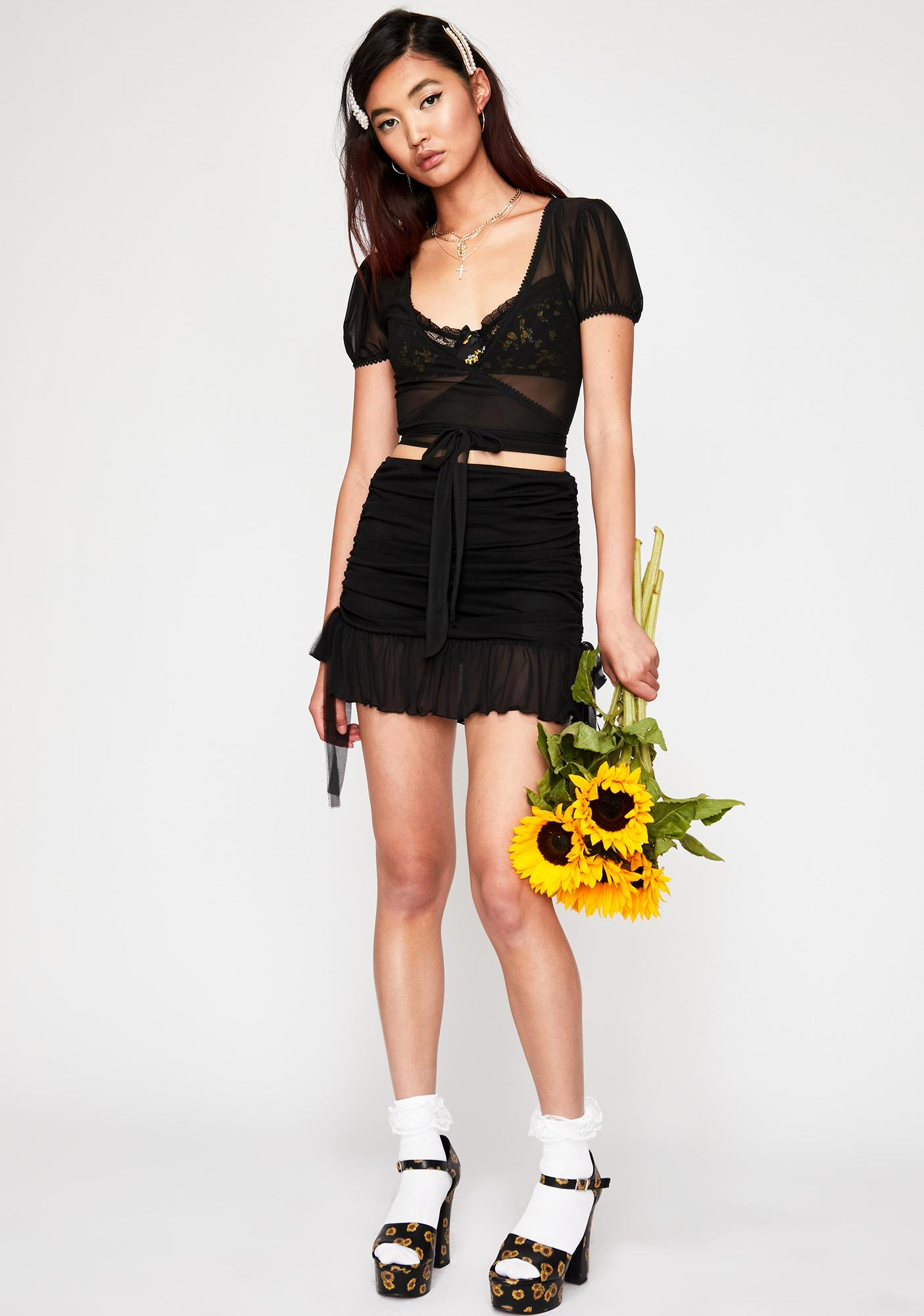 Current Mood Vitamin Sea Ruched Skirt
