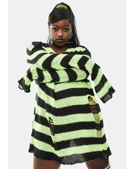 My Favorite Haunt Striped Sweater